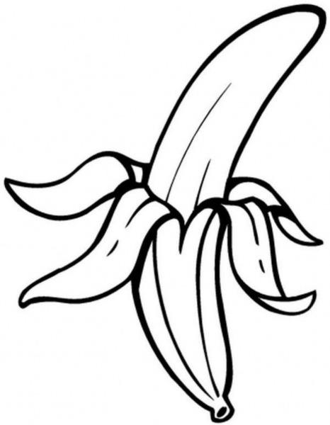 Banana Para Colorir E Imprimir