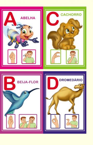 Alfabeto Ilustrado Em Libras