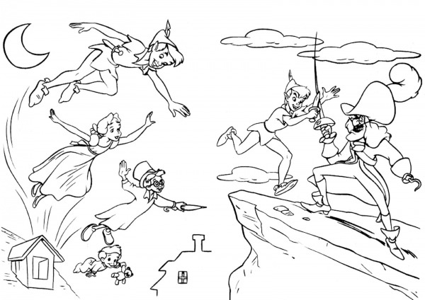 Desenho Para Colorir Do Peter Pan