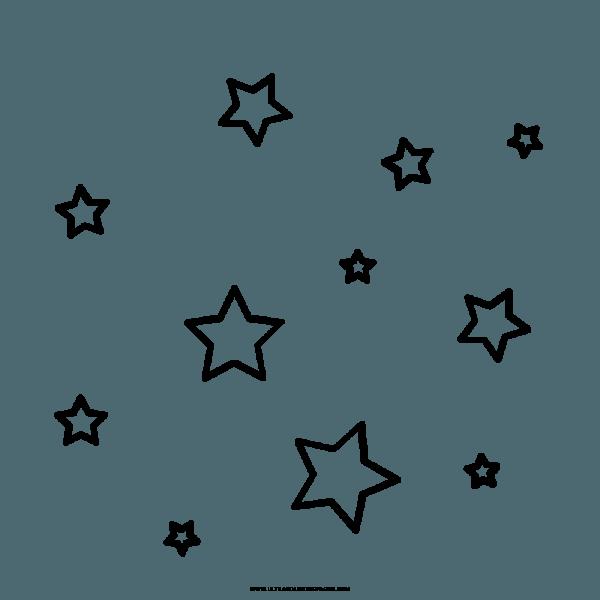 Estrelas Desenho Para Colorir