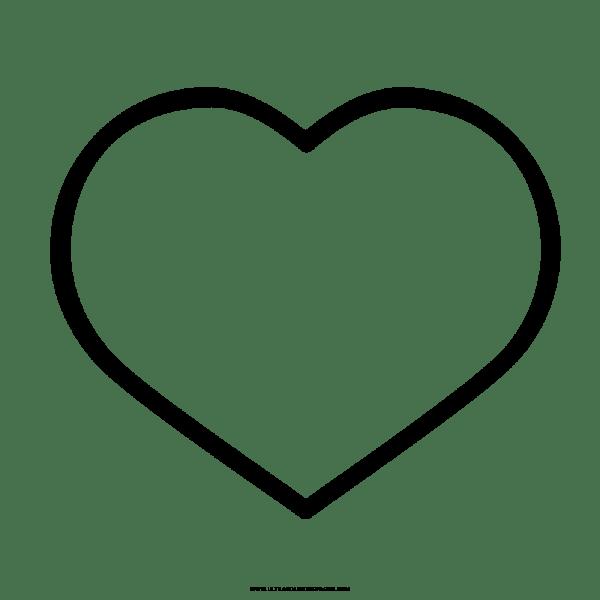 Coração Para Colorir Png 1 » Png Image