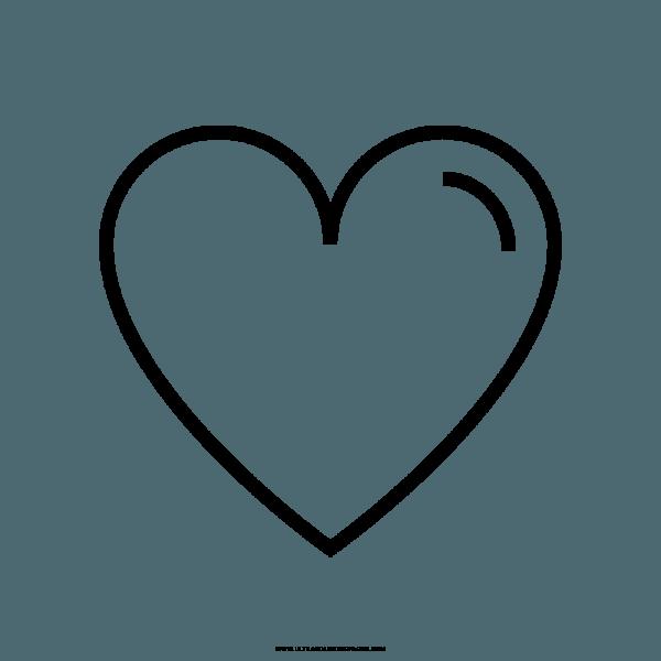 Coração Para Colorir Png 3 » Png Image