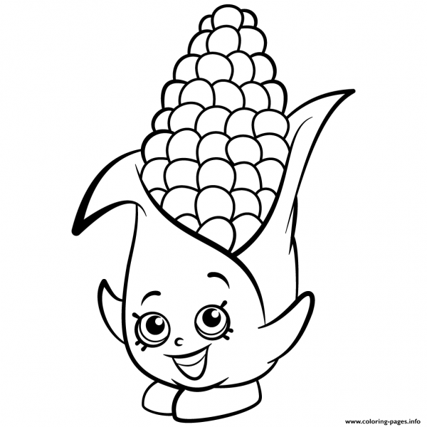 Print Exclusive Corny Cob Shopkins Season 2 Coloring Pages