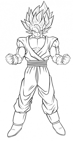 Dragon Ball Z Coloring Pages Goku Isolution Me With