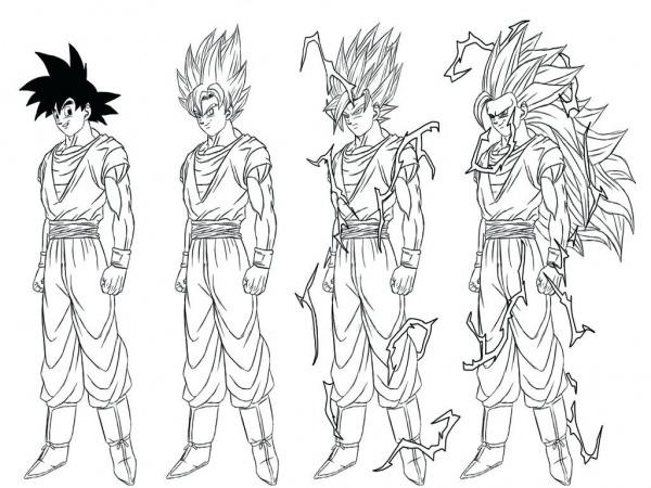 Dragon Ball Z Coloring Pages Gokudbz Goku Bardock Ideas In Super