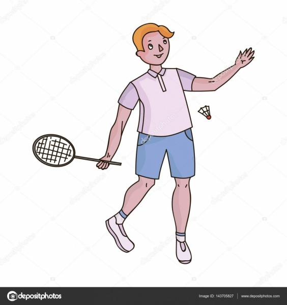 Jovens Envolvidos No Badminton  O Jogo De Badminton Com Um