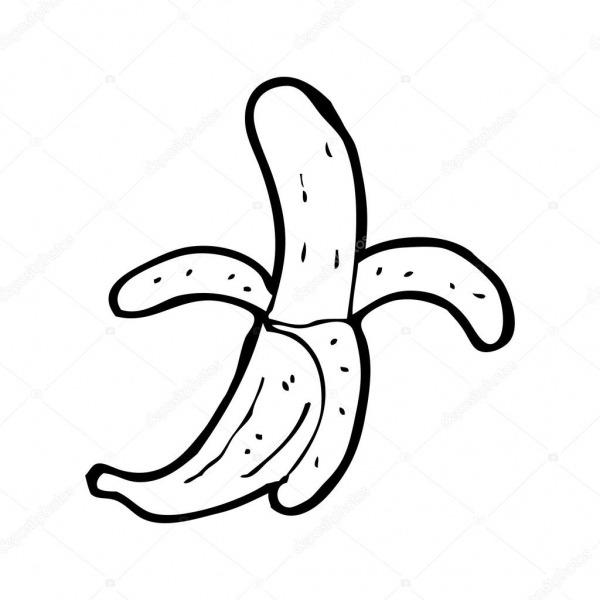 Desenho De Banana — Vetores De Stock © Lineartestpilot  20078233