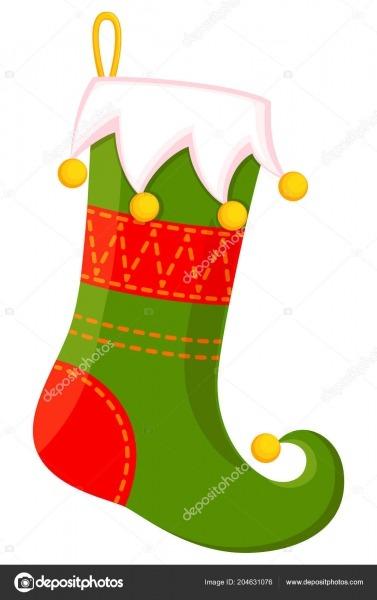 Meia Natal Bonito Dos Desenhos Animados Coloridos Ilustração Vetor