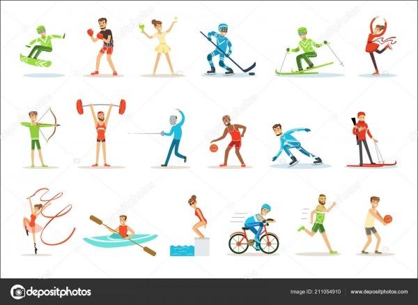 Pessoas Adultas, Praticando Esportes Olímpicos Diferentes Conjunto