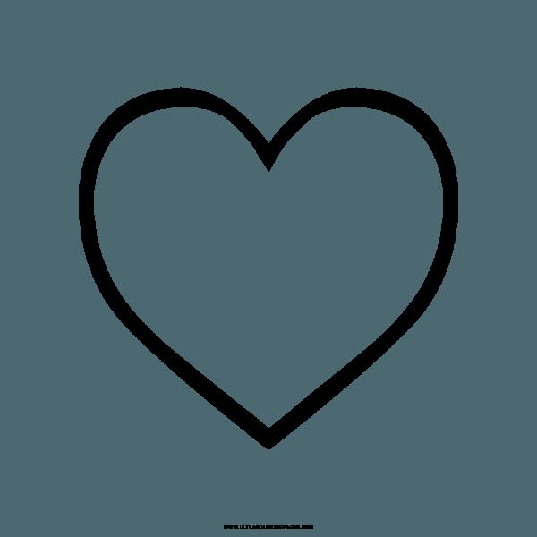 Desenho Coração Para Colorir Png » Png Image