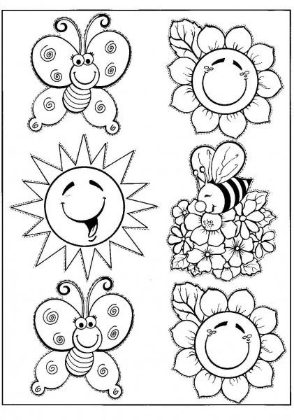 Desenho Sobre Primavera Para Colorir