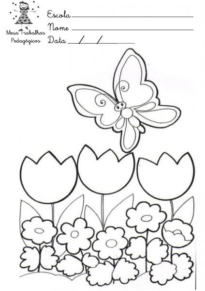 Desenho Da Primavera Para Colorir E Imprimir