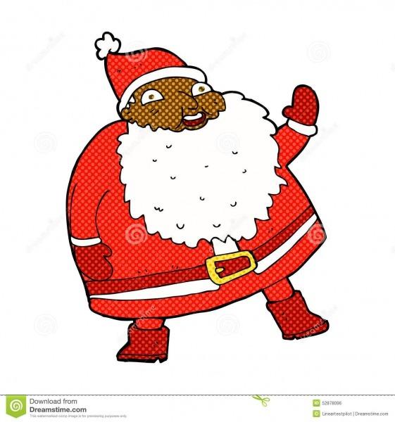 Desenhos Animados Cômicos De Ondulação Engraçados De Papai Noel