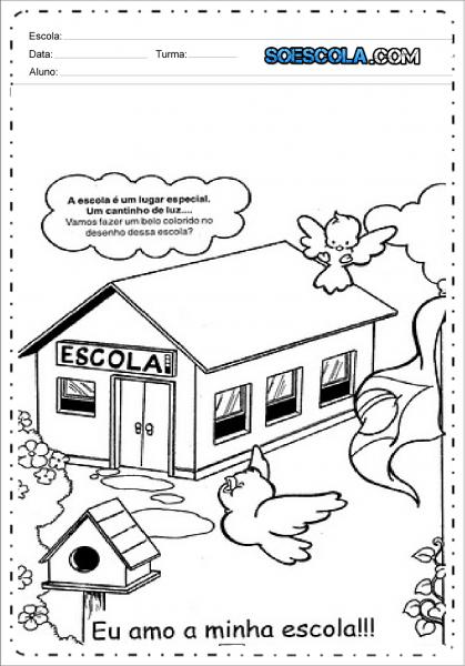 Desenhos Para Colorir Volta às Aulas