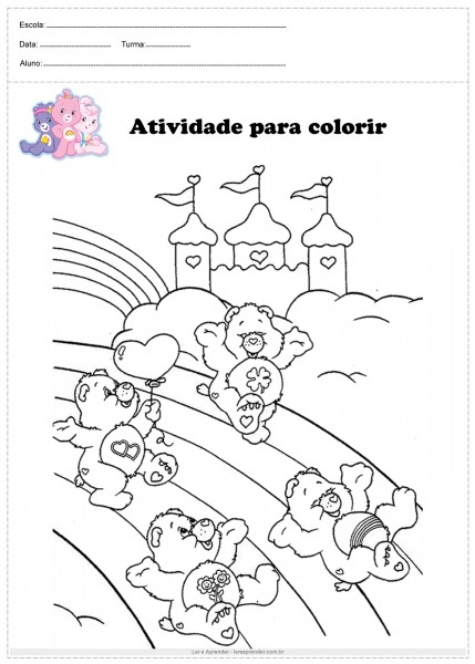 Desenhos Para Pintar Ursinhos Carinhosos