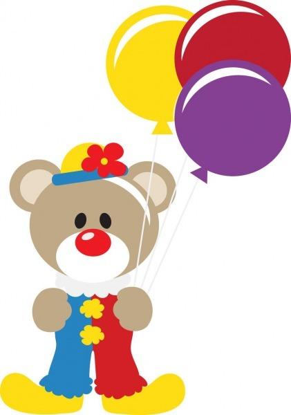 Clown Teddy Bear Clip Art