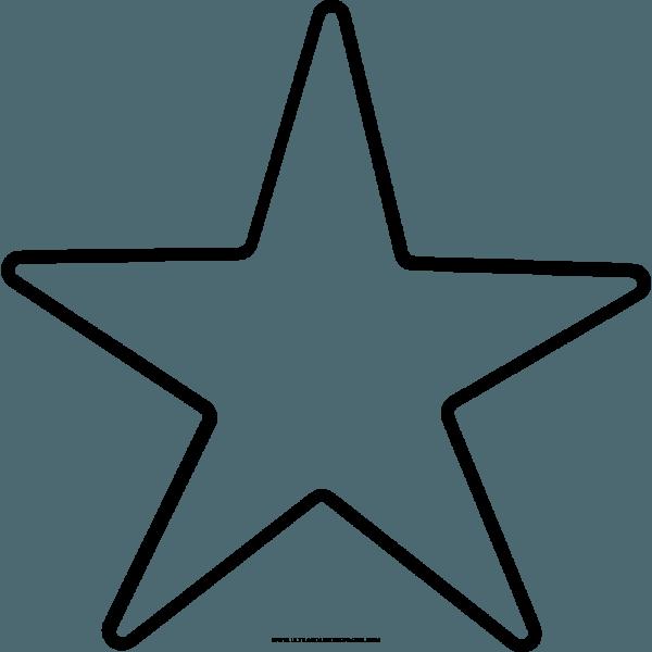 Estrela Para Colorir Png 2 » Png Image
