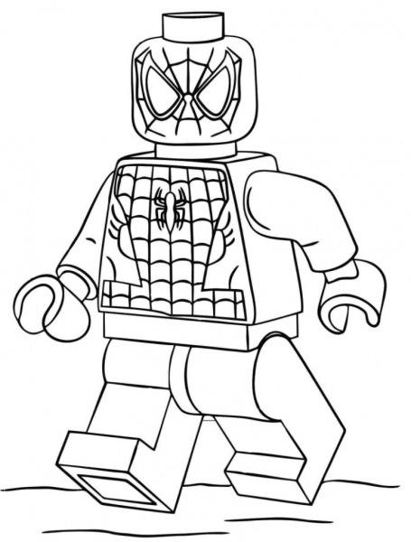 Homem Aranha Lego – Desenhos Para Colorir