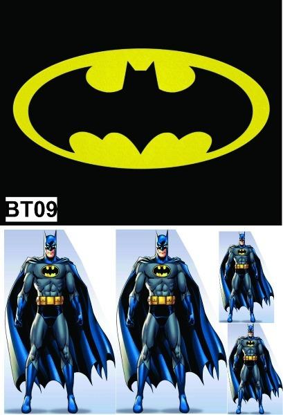 Kit Display Batman Desenho C 4pçs + Painel 2,00x1,40mt