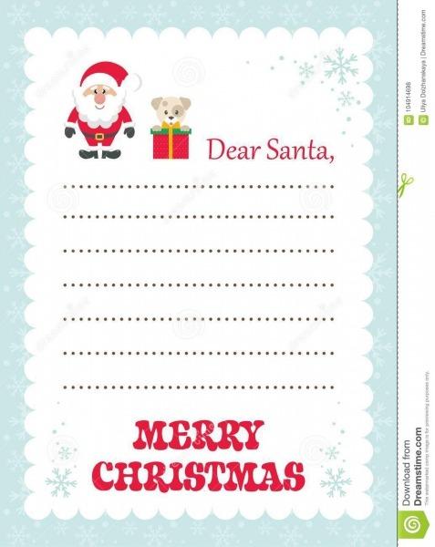 Letra Dos Desenhos Animados A Santa Com O Presente E O Papai Noel
