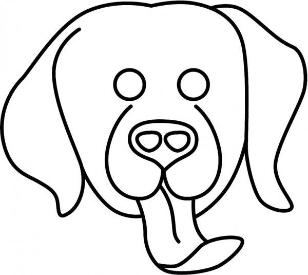 Mascara De Cachorro Para Colorir E Imprimir