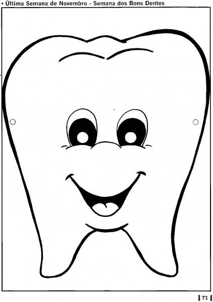 Imagens De Dentes Para Colorir