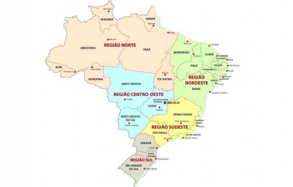 Regiões Do Brasil  Quais São, Mapa, Características
