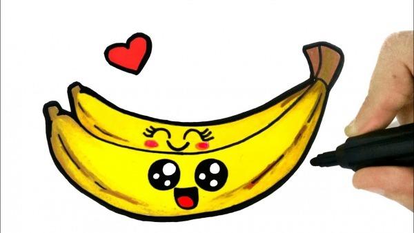 How To Draw A Banana  Como Desenhar Uma Banana