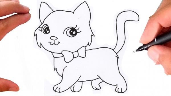 Como Desenhar Uma Gatinha Super Fofa