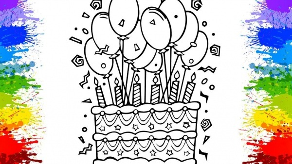 Desenholandia Pintando Bolo De Aniversário Para Crianças