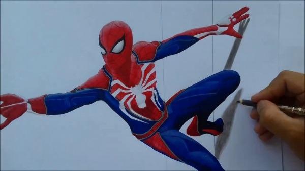 Desenhando Homem Aranha 3d   Drawing Spider Man 3d(ps4)  2
