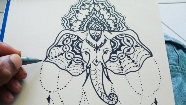 Mandala Elefante Desenho