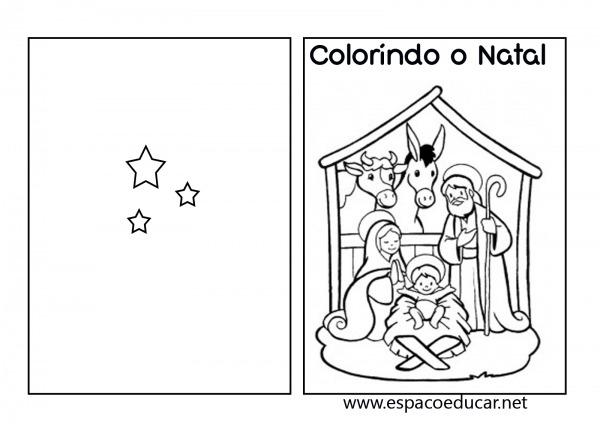 Livro De Natal Para Colorir, Pintar, Imprimir Ou Montar Kit