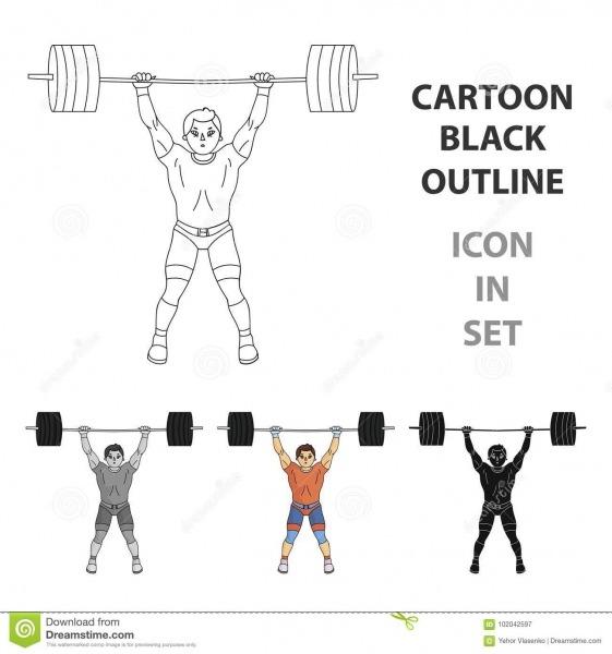 O Weightlifter Forte Aumenta A Barra No Gym O Atleta Levanta Um