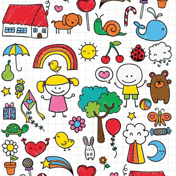 Papel De Parede Infantil Desenhos Kids No Elo7