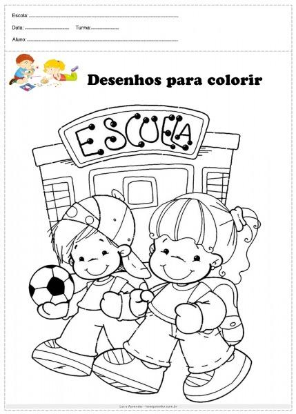 Para Colorir Escola