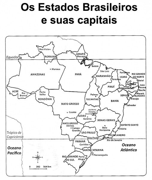 Mapa Do Brasil Politico Para Colorir