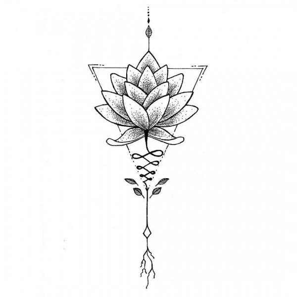 Flor De Lotus (desenho De Tattoo Sob Encomenda; Favor Não Copiar