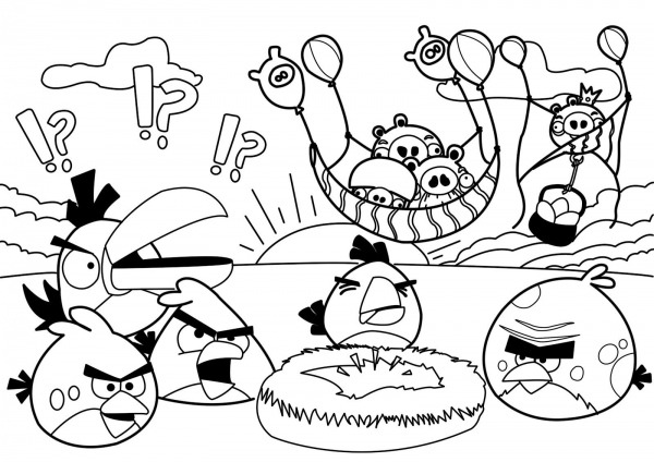 Desenhos Para Colorir Angry Birds   Colorir Ploo Fr