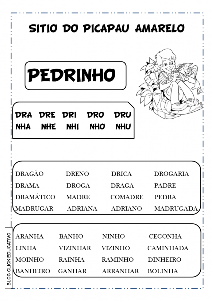 Atividades Do Sítio Do Picapau Amarelo  Leitura De Monteiro Lobato