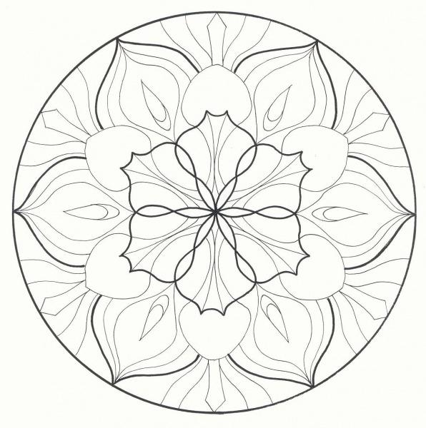 Mandalas Flores   Flor