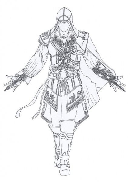 Desenhos Para Colorir Do Assassins Creed