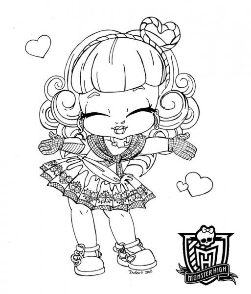 Desenholândia  Desenhos Das Monster High Para Pintar