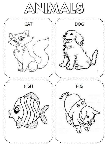 30 Desenhos Para Colorir Em Inglês, Aprenda Brincando