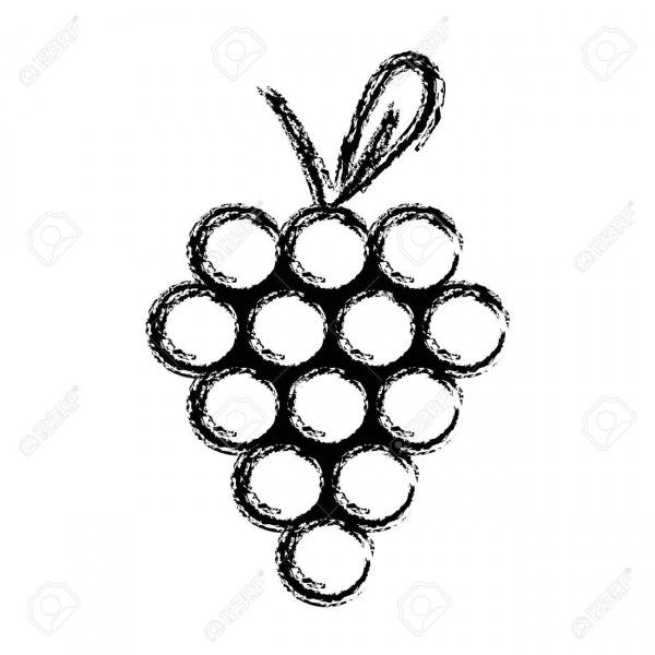 Figura Deliciosa Fruta De Uva Con Vitaminas Y Proteínas