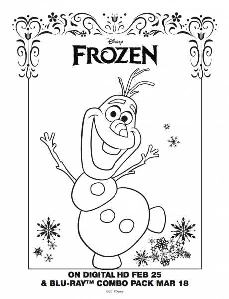 Olaf Coloring Sheet!  Frozen