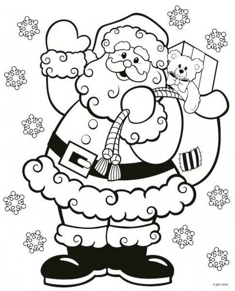 Desenho Do Papai Noel Para Colorir » Imagem Legal
