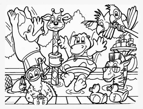 Desenho De Animais Do Zoológico Para Colorir