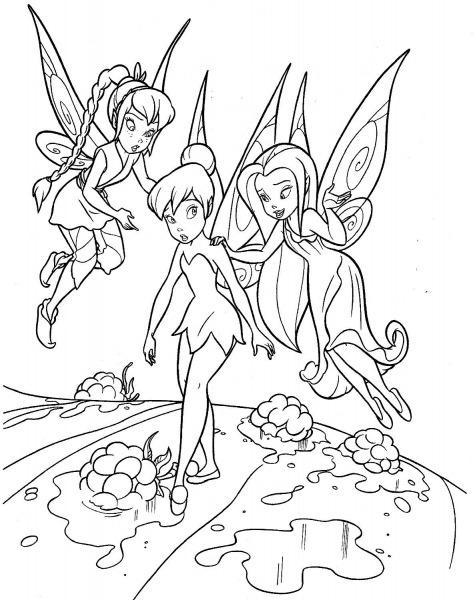 Dibujos Tinkerbell Para Colorear