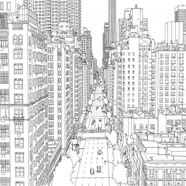 Livro Para Colorir De Cidades